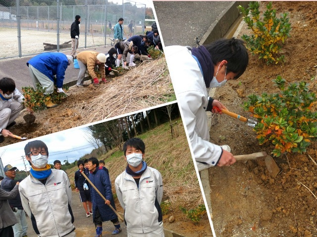 環境美化活動★ツツジ植栽へ参加