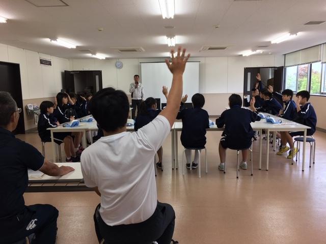 益田市立中西中学校 企業見学会