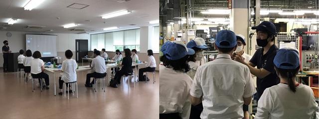 島根県西部高等技術校 企業講話・工場見学